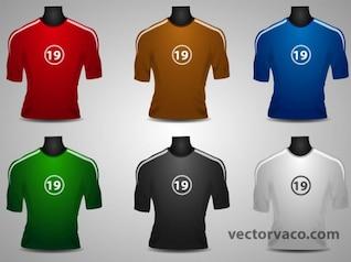 Colorido Jersey de Futbol