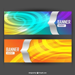 Colorido vector banderas abstractas