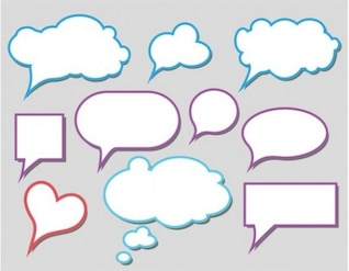 Coloridos cuadros de diálogo nubes