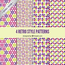 Coloridos patrones retro