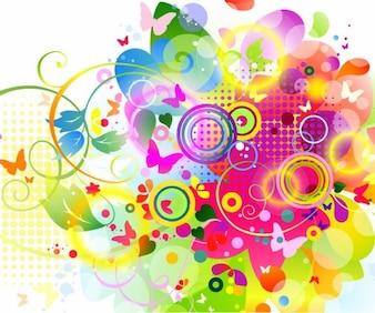 Colourfull elementos gráficos de vectores