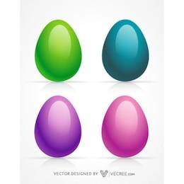 Colured 3d huevos de pascua
