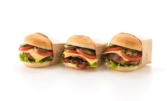 Comida rápida y comida chatarra concepto