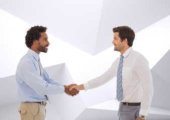 Compañeros de trabajo sonriendo copia espacio asociación introducción