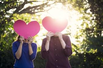 Concepto de amor, romance y concepto de San Valentín.