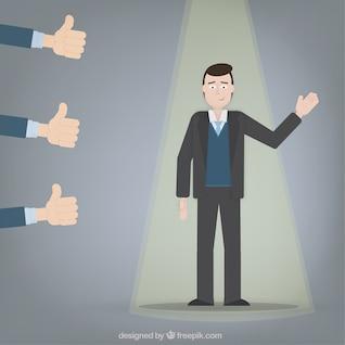 Concepto de hombre de negocios exitoso