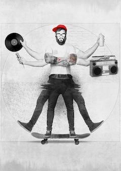 Concepto de hombre hip hop