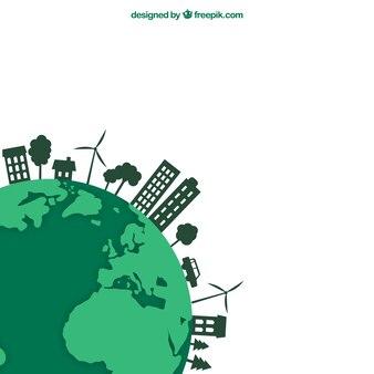 Concepto de la tierra ecológica