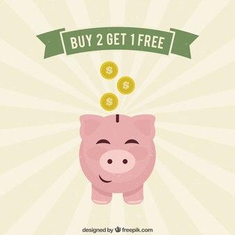 Concepto de los ahorros