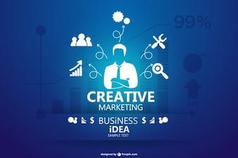 Concepto de negocio infografía
