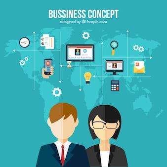 concepto de negocios internacionales