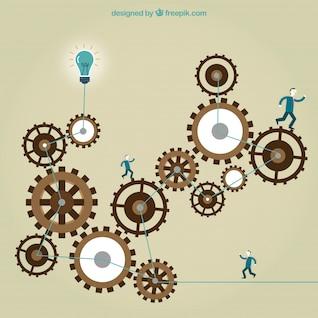 Concepto de trabajo de negocios