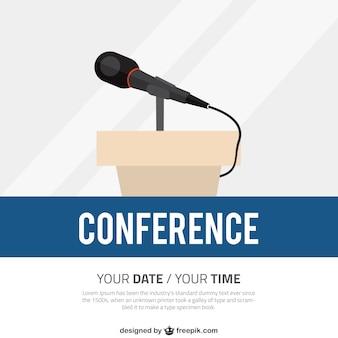 Conferencia plantilla del cartel