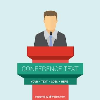 Conferencia plantilla podio