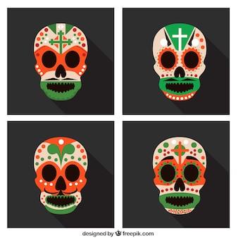 Conjunto cráneos mexicanos