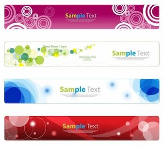 conjunto de banner horizontal para la web