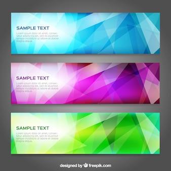 Conjunto de banners coloridas