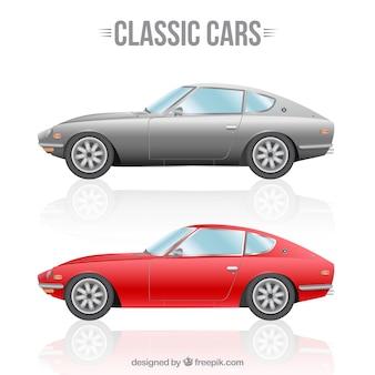 Conjunto de coches clásico