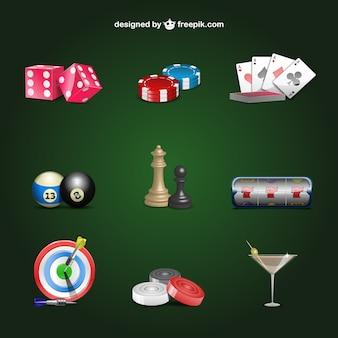 Conjunto de elementos de casino