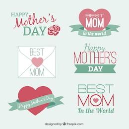 Conjunto de elementos para el día de la madre