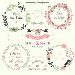 Conjunto de etiquetas de invitación
