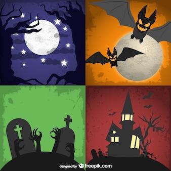 Conjunto de fondos para Halloween