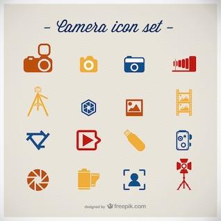Conjunto de iconos de fotografía para descarga gratuita