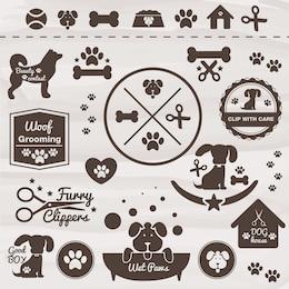 Conjunto de iconos de mascotas
