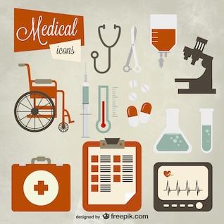 Conjunto de iconos médica