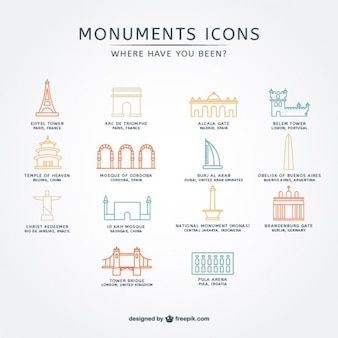 Conjunto de iconos variados