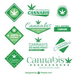 Conjunto de insignias de Cannabis