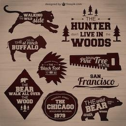 Conjunto de insignias de caza