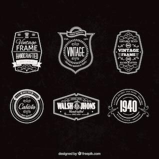 Conjunto de insignias vintage