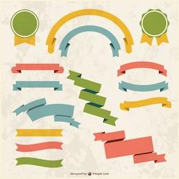 Conjunto de lazos grunge de colores