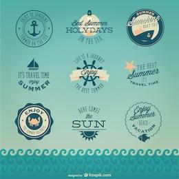Conjunto de logos náuticos
