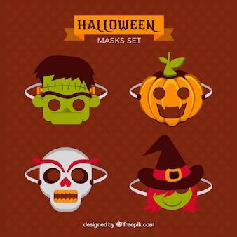 Conjunto de máscaras de Halloween