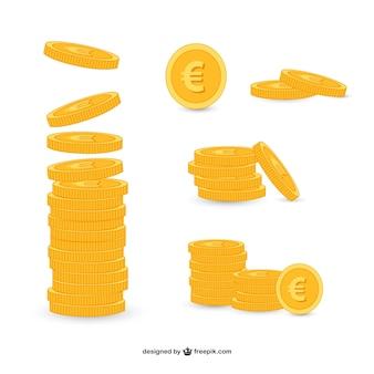 Conjunto de monedas de oro