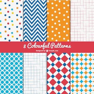 Conjunto de patrones coloridos