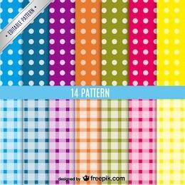 Conjunto de patrones de fondo de colores