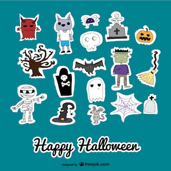 Conjunto de pegatinas para Halloween