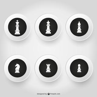 Conjunto de piezas de ajedrez
