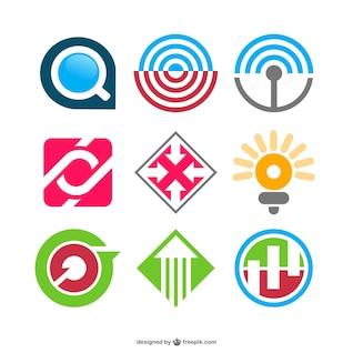 Conjunto de plantillas de logos abstractos