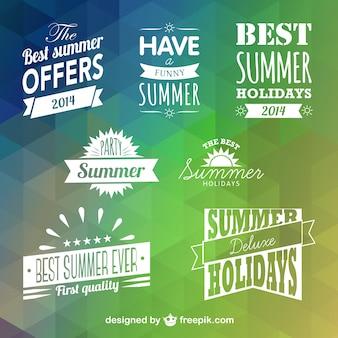 Conjunto de rótulos de verano