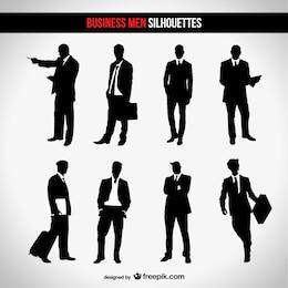Conjunto de siluetas de negocios