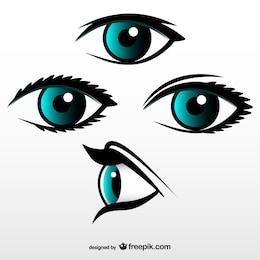 Conjunto de vectores de ojos