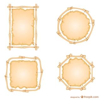 Conjunto del marcos de bambú