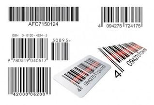 Conjunto detallado de códigos de barras escaneados