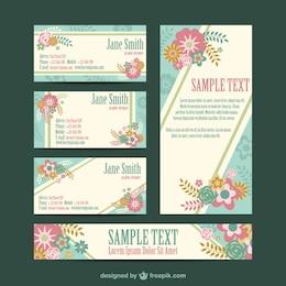 Conjunto gratuito de identidad corporativa floral