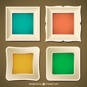 Conjunto marcos, formato vectorial