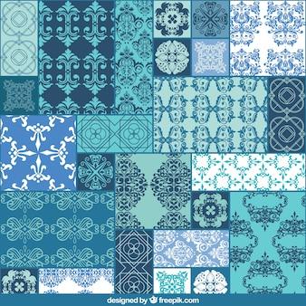 conjunto patrón ornamental